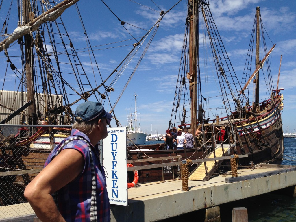 Reproducción en Freemantle del primer barco europeo en llegar a Aust