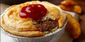 Pie de Australia con ketchup