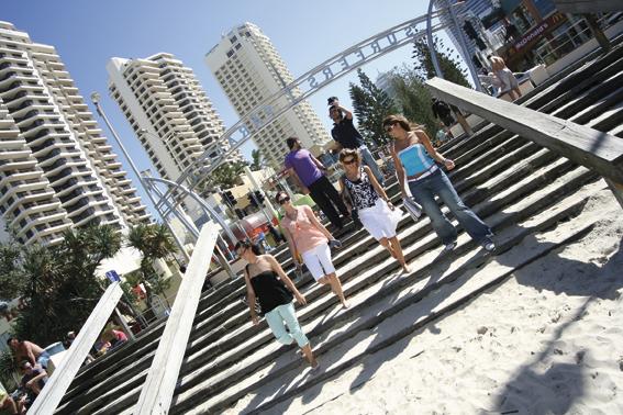 Estudiantes de inglés en Gold Coast