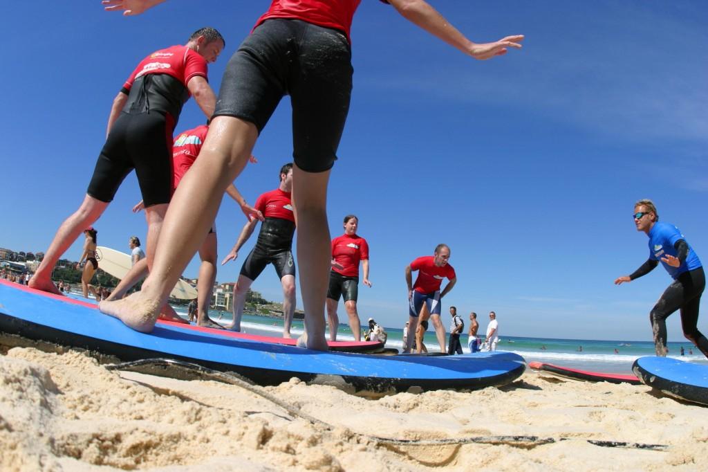 Inglés y deporte en Australia (clase de surf en Australia)