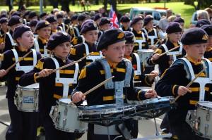 Niños en el desfile del ANZAC Day