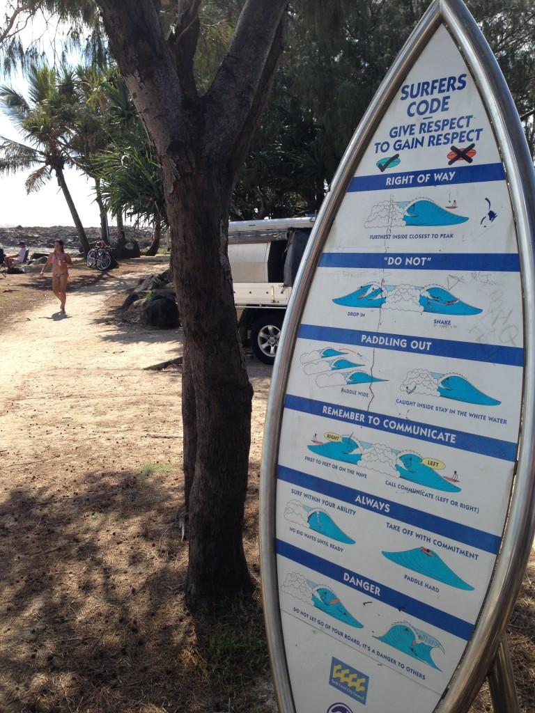 Código de conducta de surfistas en Australia