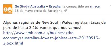 Gostudy hablando sobre el desempleo en Australia