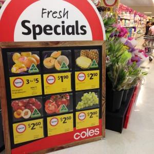 Ofertas en el supermercado en Australia