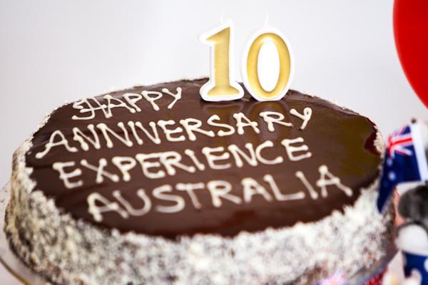 Tarta de aniversario de Experience Australia