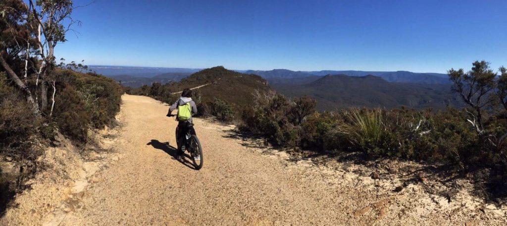 Con la bicicleta por las Blue Mountains